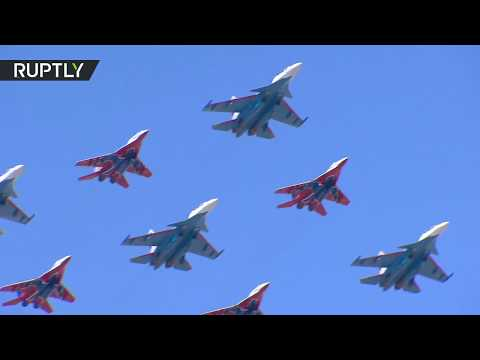 Victory Day rehearsals: Over 70 aircraft take to the skies in Moscow region
