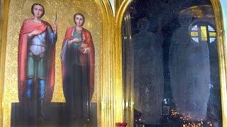 Иконы святых Великомучеников проявились на стекле! Настоящее Чудо!