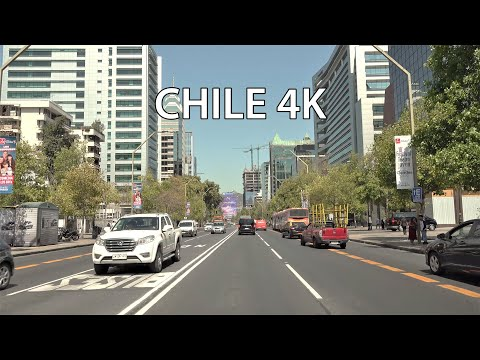 Santiago 4K - Driving Downtown - Chile