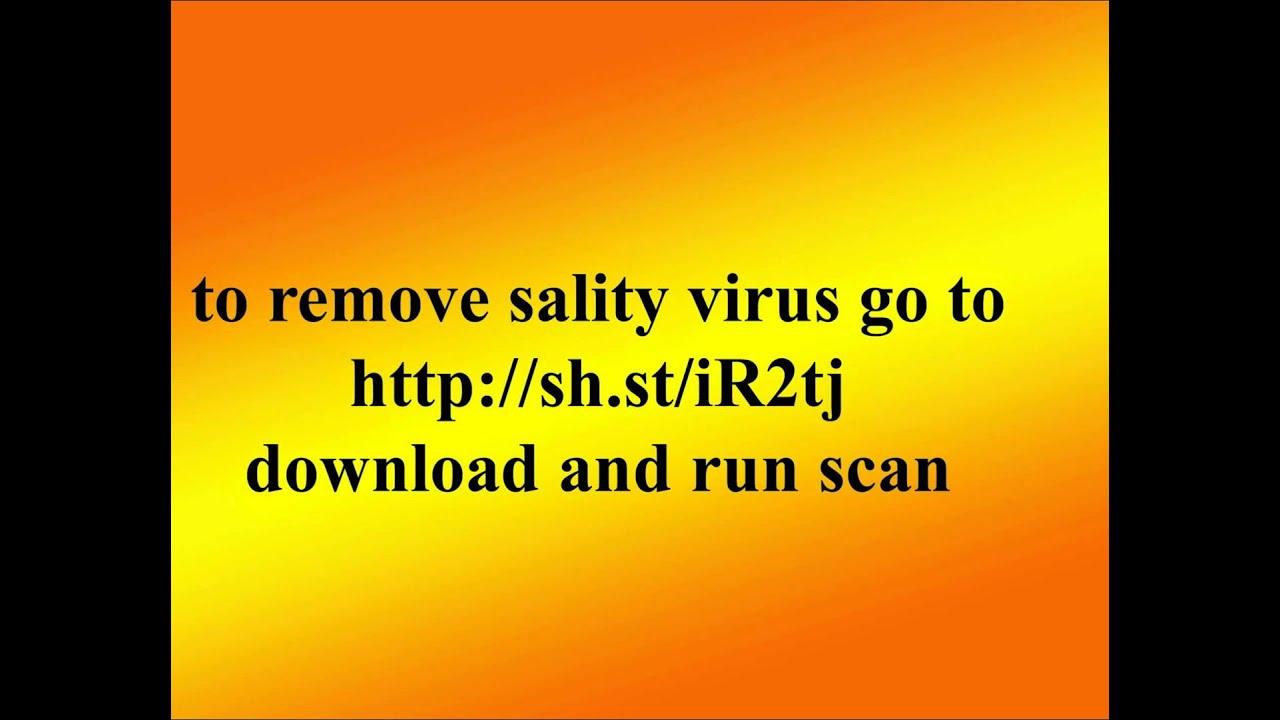 w32.sality.ae virus removal tool