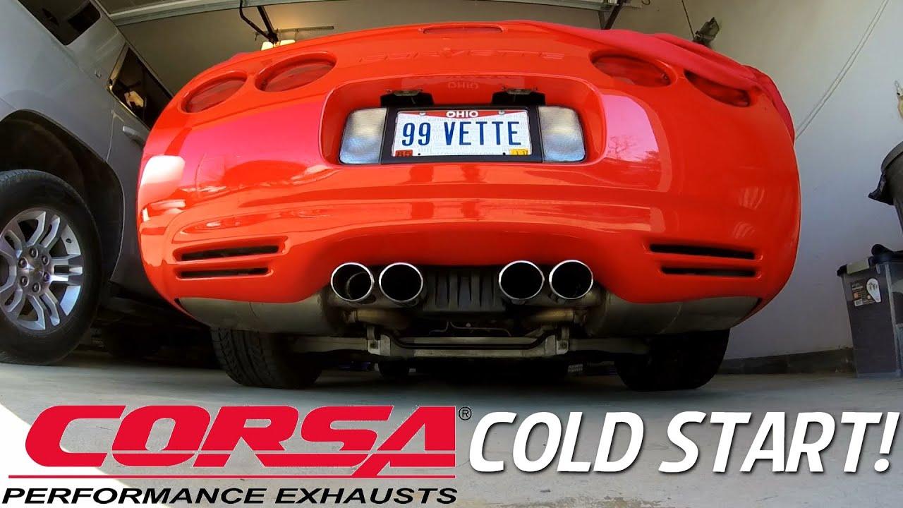 corsa xtreme exhaust cold start c5 corvette