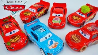 DISNEY PIXAR CARS 6 PACK LIGHTNING MCQUEEN SPECIAL EDITIONS DINOCO PISTON CUP RADIATOR SPRINGS!