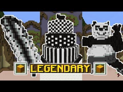ONLY BLACK, WHITE, & GRAY CHALLENGE! (Minecraft Build Battle)