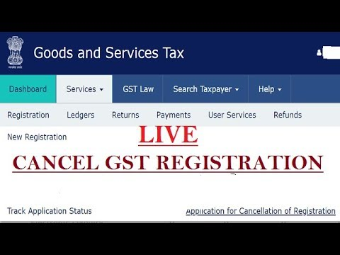 GST registration Cancellation Live, How to cancel GST registration,  GST Number cancel/surrender