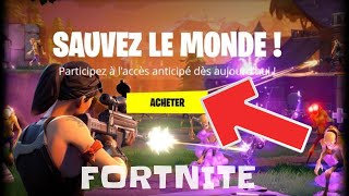 "FORTNITE: BREF I bought ""Save the World"" ... Subscriber contests to come"