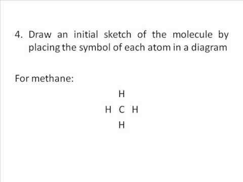 How to draw methane CH4 lewis structure - YouTube