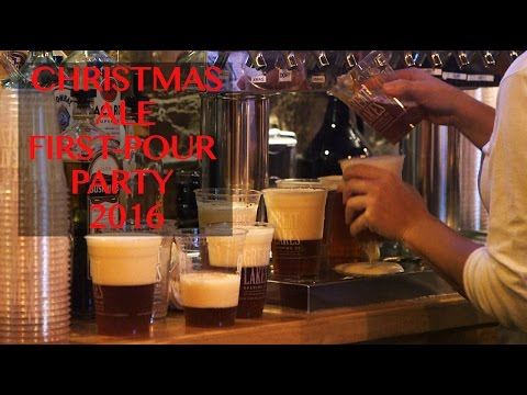 Great Lakes Brewing Co. Christmas Ale first-pour party 2016 - YouTube