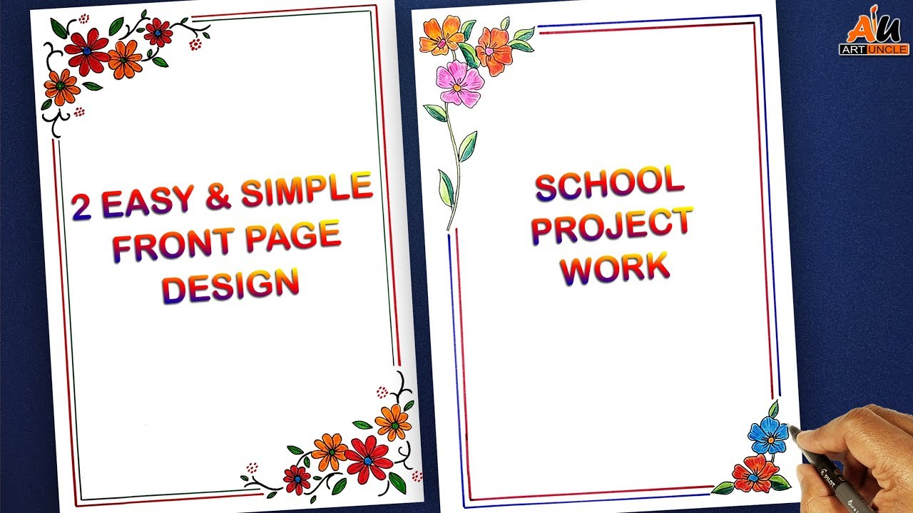 beautiful border designs for project file