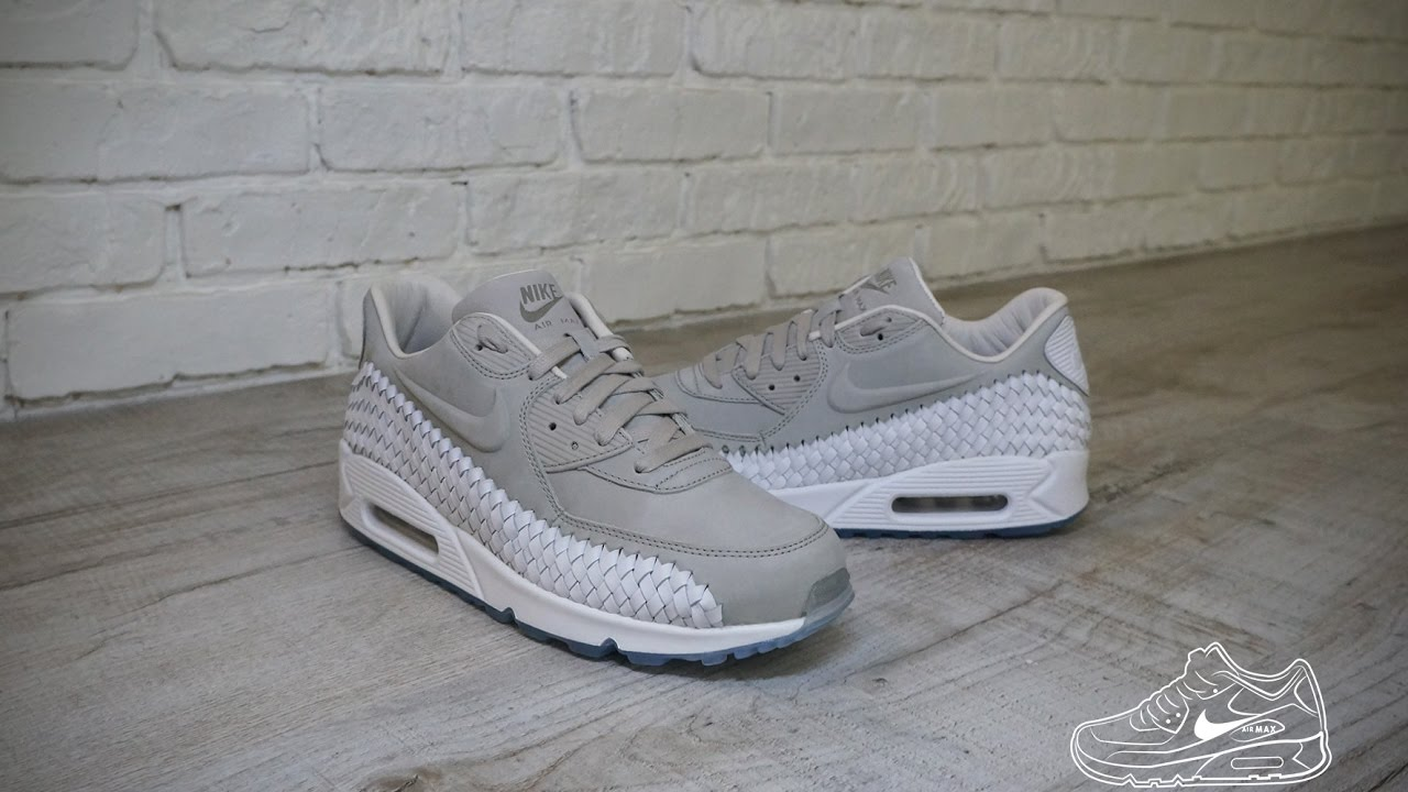 Nike Air Max 90 Woven Light Iron Ore White Phantom