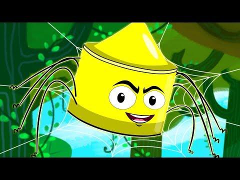 Incy Wincy Spider | Nursery Rhymes Crayons | Baby Rhymes | Kids Songs | Childrens Videos
