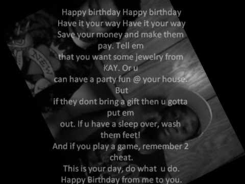 Happy Birthday To You !- Kids Rap Song Video New Original 2012