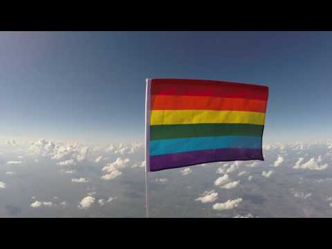 First pride flag in space.
