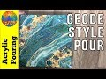 How To Embellish Any Pour Into A Gorgeous Geode Style mp3