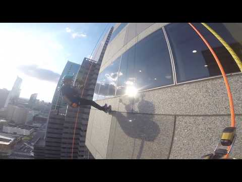 Building Adventure 2016 - Rappel from Philadelphia Commerce Square Skyscraper
