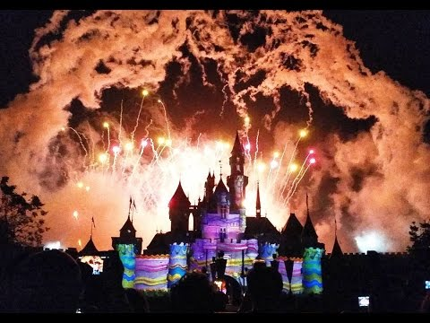 "Hong Kong Disneyland 10th Anniversary Castle Projection & ""Disney in the Stars"" Fireworks"