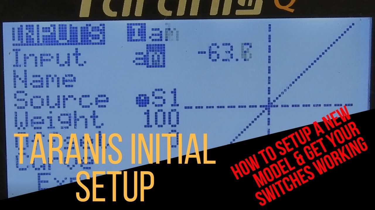 How to Setup a Taranis Radio - New Model Setup & Setup Your Switches