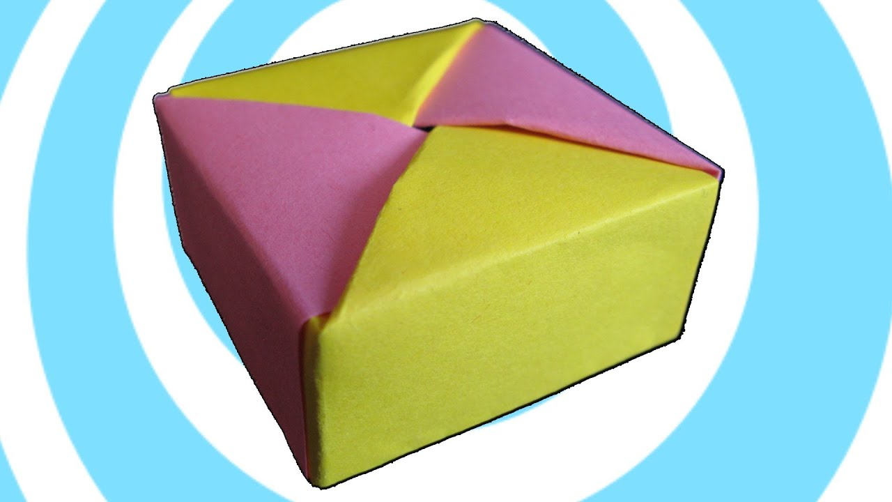 modular origami box with lid instructions tomoko fuse  [ 1280 x 720 Pixel ]