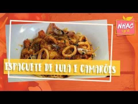 Espaguete De Lula E Camarões Com Açafrão | Claude Troisgros | Que Marravilha!