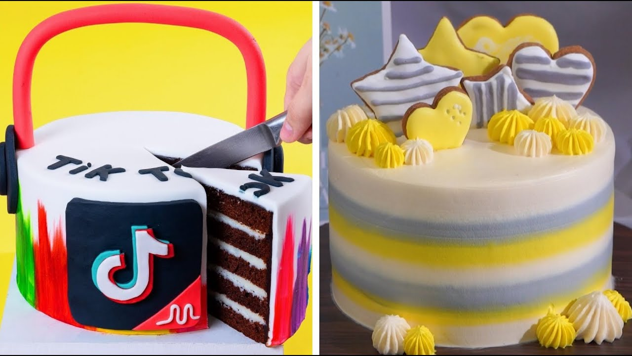 Tiktok Cake Decorating Tutorials Perfect And Easy Cake Decorating Ideas Best Fondant Cake Design Youtube