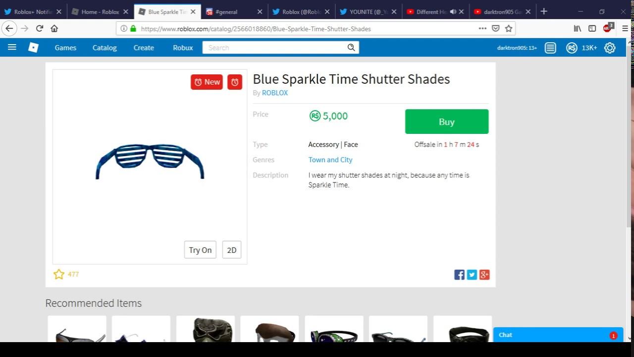 ae94a1522a Blue Sparkle Time Shutter Shades