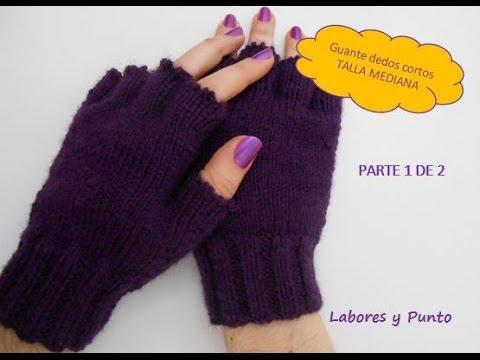 Como tejer estos guantes talla mediana a dos agujas. Parte 1 de 2 ...