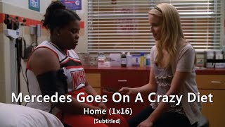 glee mercedes goes on a crazy diet and faints   home subtitled hd