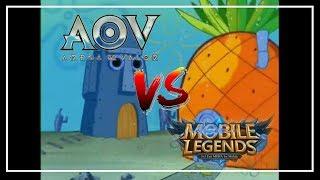 MOBIL LEJEN VS AOV - [SPONGEBOB VERSION] AWAS TRIGERED!