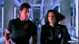 Demolition Man Sylvester Stallone and Sandra Bullock fight scene