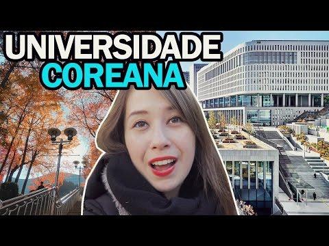 Como é uma Universidade na Coreia do Sul? TOUR PELO CAMPUS 🎓