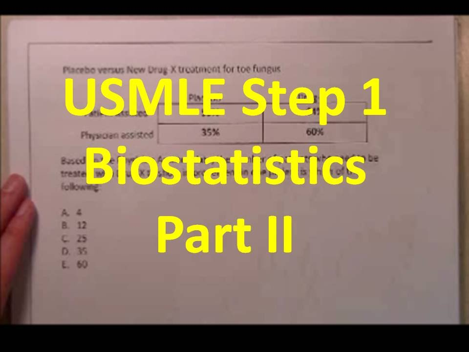 usmle biostatistics Our biostatistics q-bank database for the usmle step 1 is an advanced testing system that covers concepts you are most likely to see on step 1.