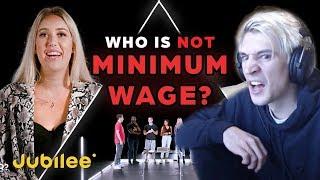 xQc Reacts to 6 Minimum Wage Workers vs 1 Secret Millionaire