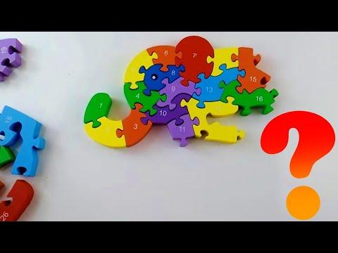 puzzle-eğitici oyuncaklar-yapboz-yapboz oyunları-sayılar-çocuk oyunları fil