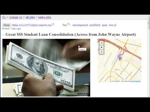 Student Loan Consolidation Scams