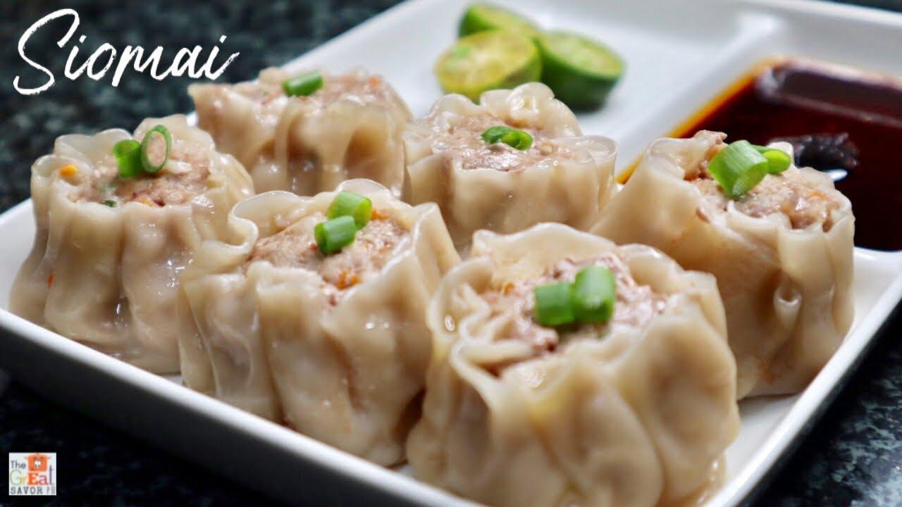 Easy PORK SIOMAI Recipe Filipino Style  How To Wrap Siomai  HOMEMADE  SIOMAI