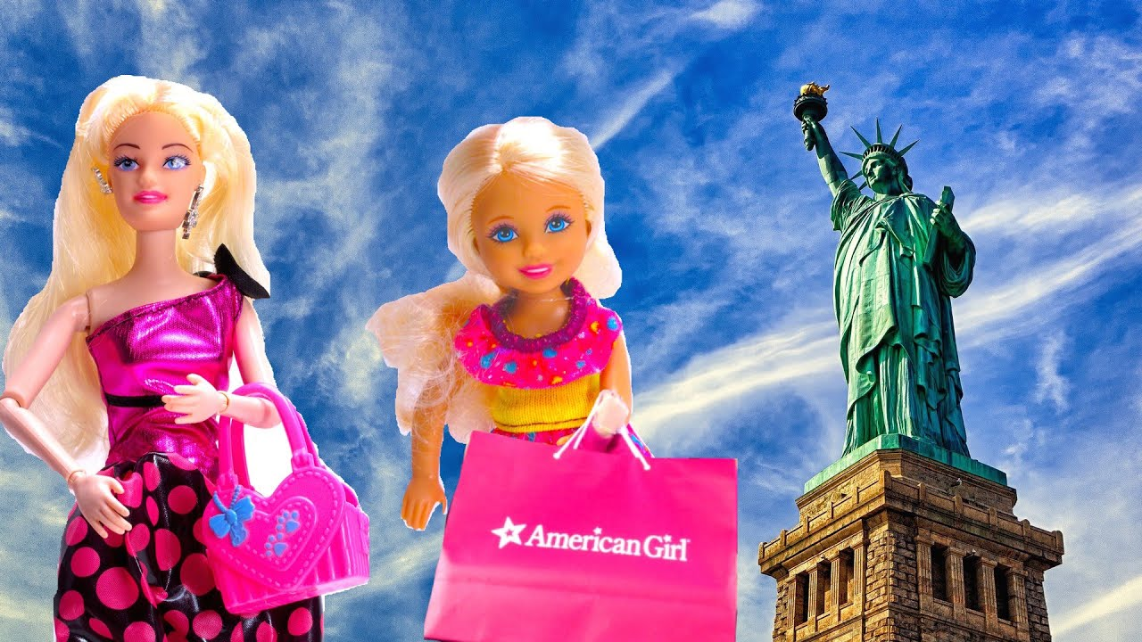barbie doll chelsea ken visit new york to shop at american girl doll store youtube. Black Bedroom Furniture Sets. Home Design Ideas