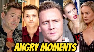 Avengers Cast Losing Their Cool Part 3 | MCU Cast Getting Angry | MCU Actors Angry Moments Part 3