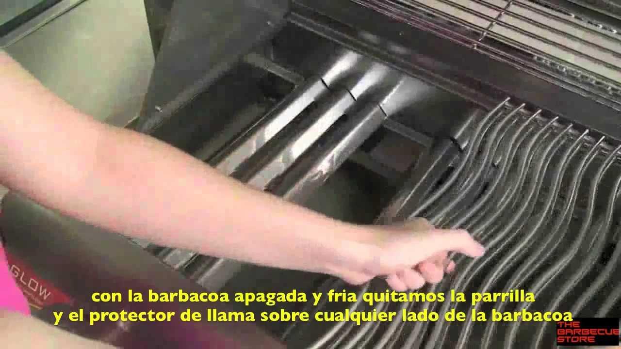 Bandeja de carb n para barbacoas a gas napole n youtube for Barbacoas de piedra para jardin