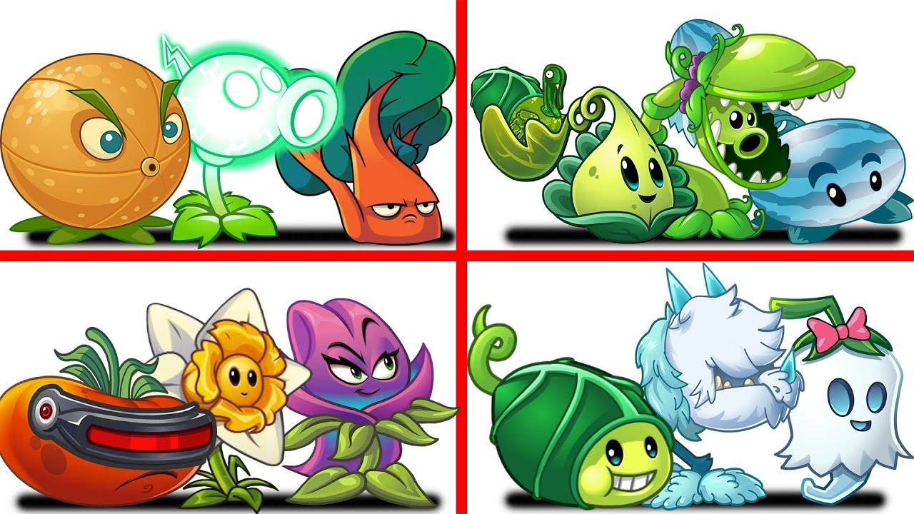 PvZ 2 4 Super Team Plants Vs Team Zombies Part 38 - Team So OP !!!
