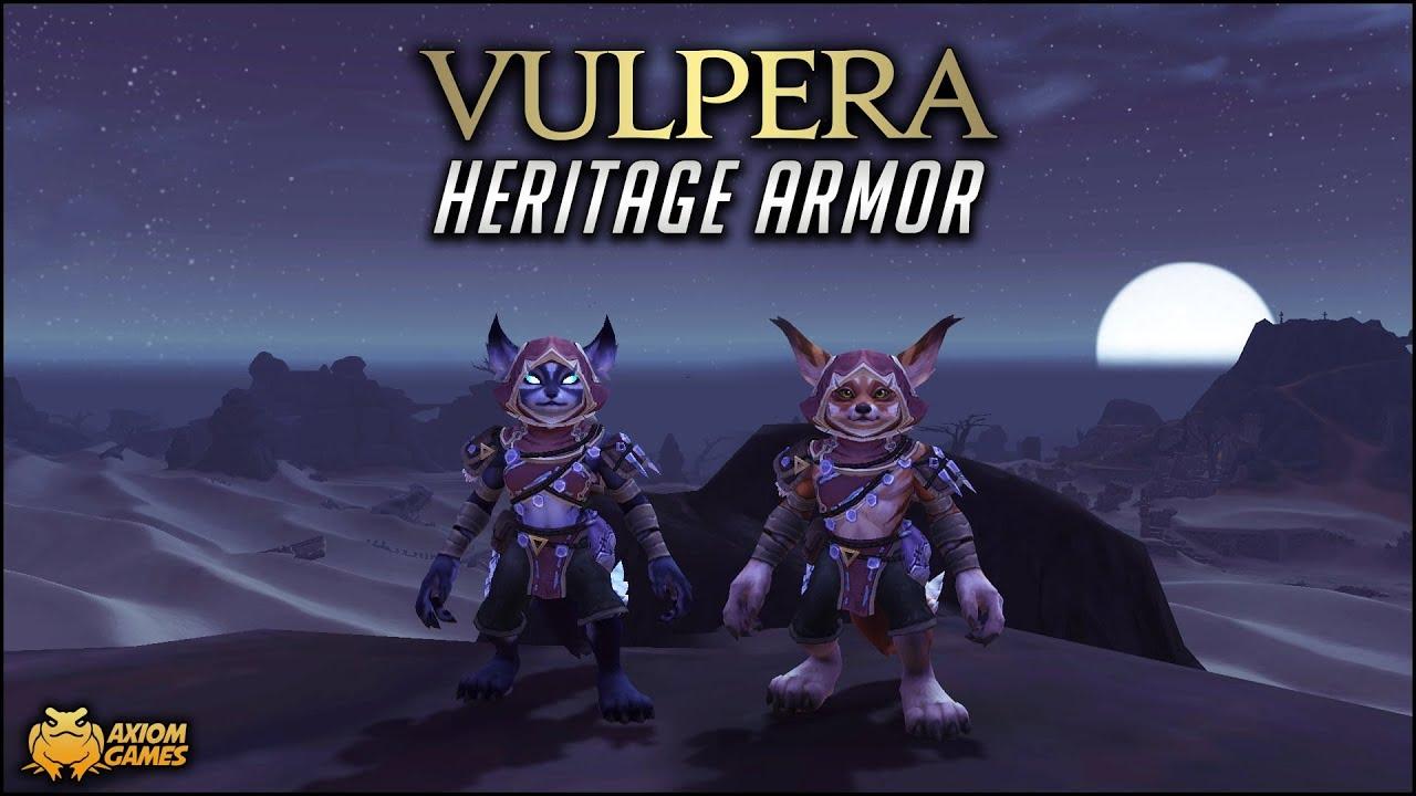 World of Warcraft - Vulpera Heritage Armor - YouTube