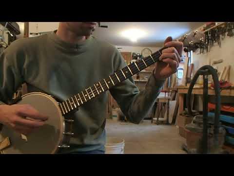 Long scale custom banjo tuned to E, Zachary Hoyt #63