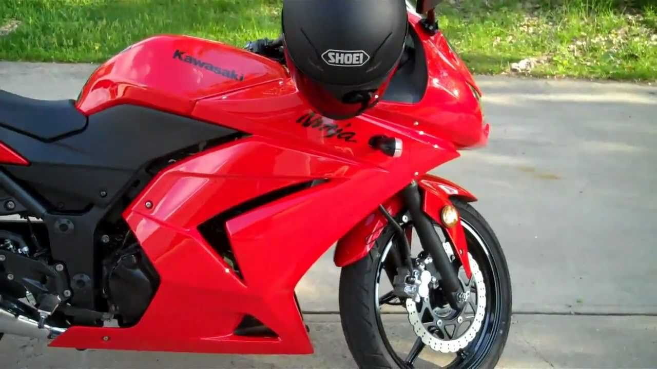 2010 Kawasaki Ninja 250r RED - YouTube