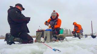 Перша зимова рибалка на Дніпрі з друзями!