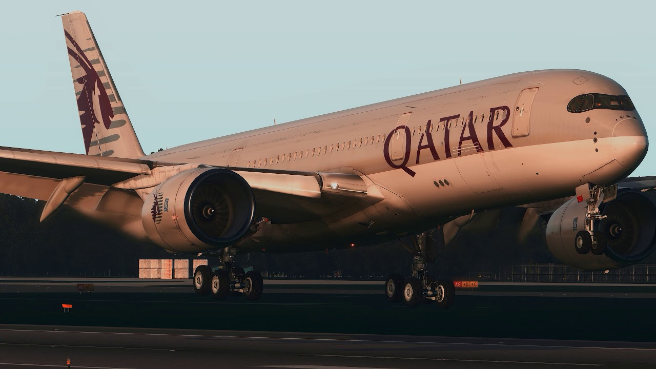 Beautiful QATAR A350-900 landing at Liverpool UK [X-Plane 11]