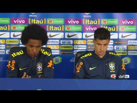 Seleção Brasileira: coletiva com Philippe Coutinho e Willian - 21/03/2018