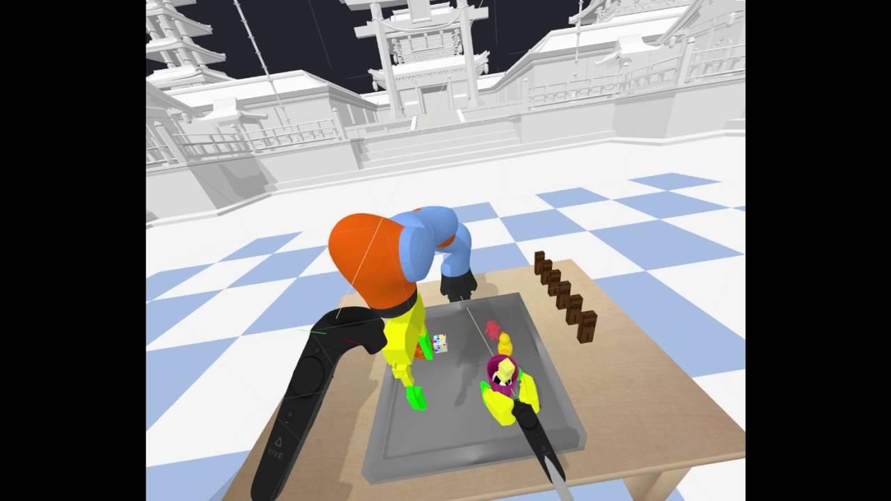 Open source Bullet VR+pybullet Robot Physics Simulation using HTC Vive