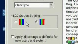 Computer Tips and Tricks XP - Clear type font tuner