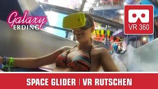360° SPACE GLIDER water tube slide | VR360 POV on-ride | Therme Galaxy Erding Wasserrutsche tobogán