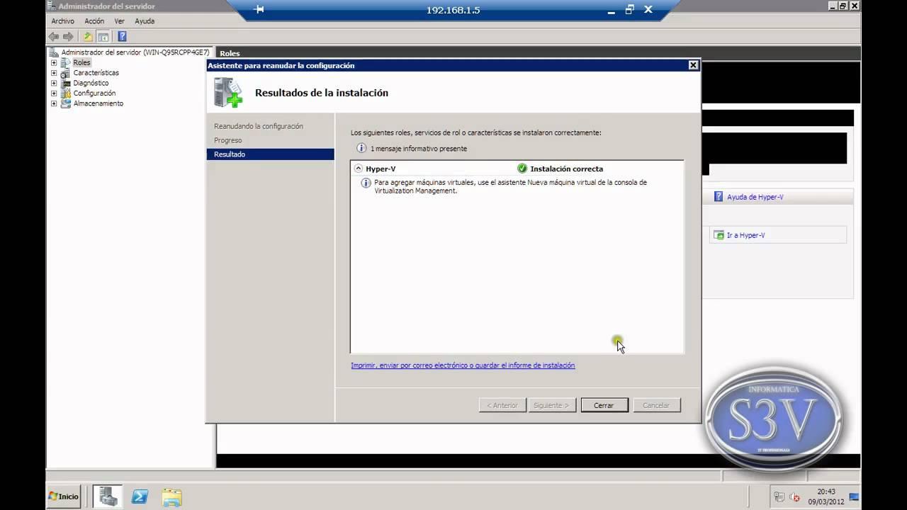 Windows Server 2008 r2 - Como instalar Hyper-V - YouTube