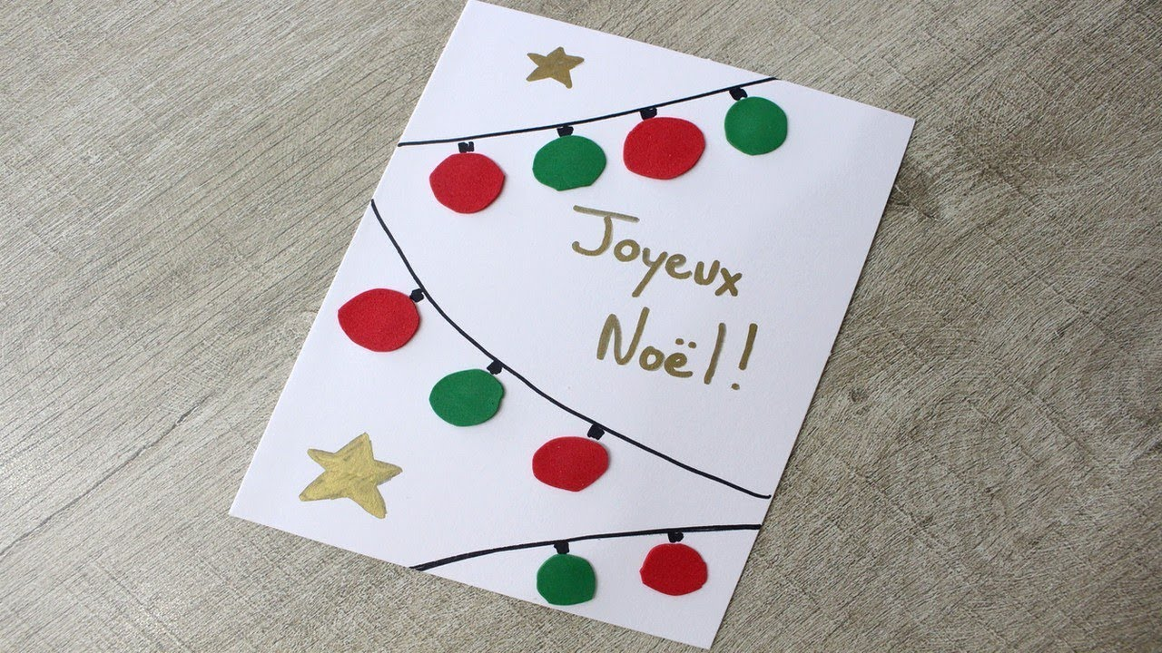 Carte de Noël très facile !   YouTube