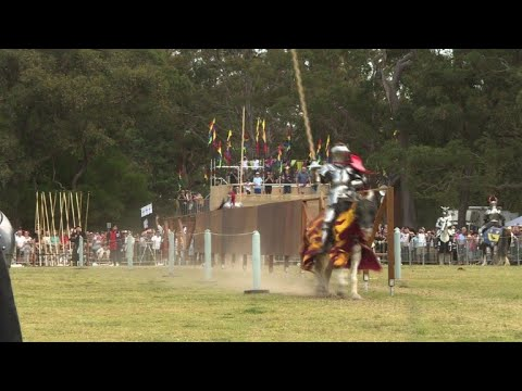 Knights joust and vikings clash at medieval fair in Sydney
